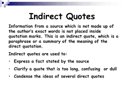 Direct Quotes Using Quotations Ppt Video Online Download