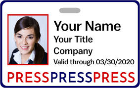 Press Pass Colorful Name Tag Wizard Badge Id -