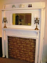image of old fireplace mantels for