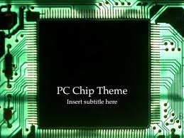 Powerpoint Circuit Theme Free Computer Chip Powerpoint Template With Electrical