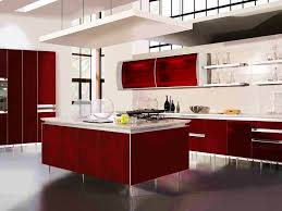 Modern Style Kitchen Cabinets Two Tone Painted Kitchen Cabinets Contemporary Style With Red