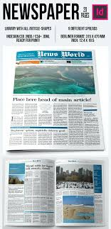 Newspaper Article Template For Pages Newspaper Front Cover Template Mock Up Pumpedsocial