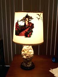 ... Shell Lamps Lighthouse Lamp Size Is Inches From Base To Top Of Shade  The A Hurricane