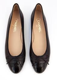 Designer Black Flats Black Chanel Ballet Flats Size 41 At Snobswap Chanel Shoes