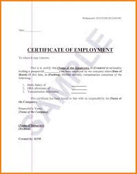 Format F As Employment Certification Letter Example Best Of Best S
