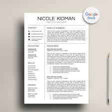 Google Doc Resume Template Modern Modern Google Docs Resume Template Download Resume Market