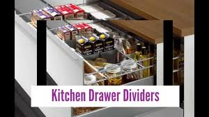 Kitchen Drawer Organizing Excellent Kitchen Drawer Dividers Youtube