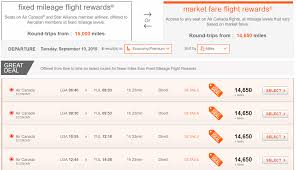Aeroplan Fixed Mileage Chart A Beginners Guide To Redeem Aeroplan Miles For Award