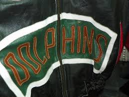 lot 194 leather miami dolphins jacket