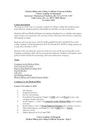 Sample Medical Resume Cover Letter Medical Billing And Coding Resume Entry Level Examples Sradd