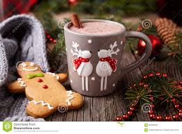 cup of hot chocolate christmas. Simple Christmas Cup Of Hot Chocolate Or Cocoa Drink With Two Cute On Of Hot Chocolate Christmas