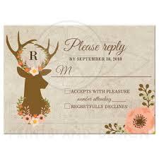 Rsvp Card Sizes Floral Deer Wedding Custom Rsvp Card