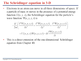 the schrödinger equation in