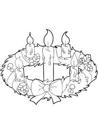 Advent Wreath Coloring Pages Advent Wreath And Candles Coloring Page