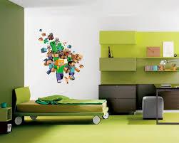 Ben 10 Bedroom Wall Stickers | Bedroom With 29 Lovely Gallery Of Minecraft  Bedroom Wallpaper