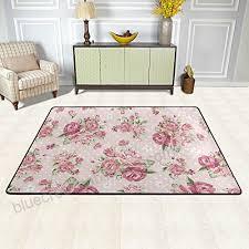 u life vintage victorian roses fl flowers large area rug runner floor mat carpet for entrance