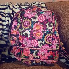 Vera Bradley Discontinued Patterns Impressive Vera Bradley Bags Mod Floral Pink Backpack Retired Poshmark