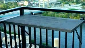 kitchen deck handrail table