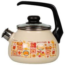 <b>Чайник эмалированный со свистком</b> 2.0 л СтальЭмаль Цветочный