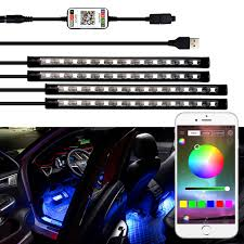 App Controlled Interior Car Lights Us 13 29 51 Off Led Strip Auto Car Ambient Light App Control Usb Rgb Interior Atmosphere Lamp 5050 48smd Flexible Car Led Decorative Lights In