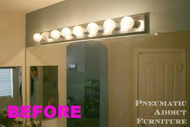 Long Bathroom Light Fixtures Bathroom Upgrade Part 1 Splitting The Vanity Light