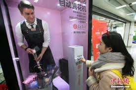 Flower Vending Machine For Sale Custom Manned Flower Vending Machine Uses Real People To Sell Flowers