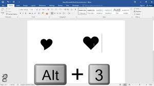 Microsoft Word Hearts How To Type Heart Symbol In Word