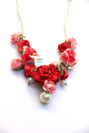 Red Paper Flower Red Pink Rose Paper Flower Jewellery
