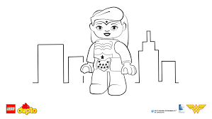Small Picture LEGO DUPLO Wonder Woman coloring page Coloring page LEGO