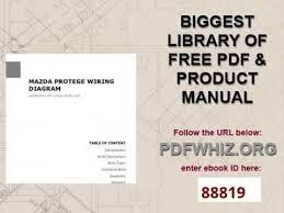 mazda protege wiring diagram mazda protege wiring diagram