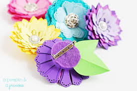 Paper Flower Punches Diy Paper Flowers Without A Die Cutting Machine A Pumpkin And A