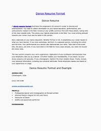 Dance Teacher Resume Example Beautiful Dance Instructor Resume Dance