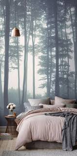 Master Bedroom Wallpaper Whimsical Master Bedrooms With Forest Wallpaper