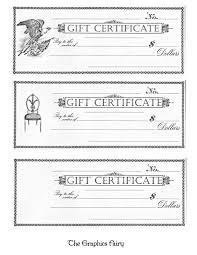 printable gift certificates the graphics fairy xxxooo