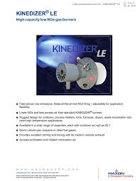 kinedizer® le burner maxon pdf catalogue technical kinedizer® le burner 1 4 pages