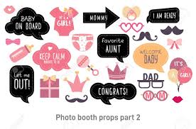 Baby Shower Photo Booth Props Happy Birthday Party For Girl