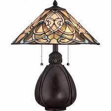 quoizel tf1846tib tiffany 2 light table lamp