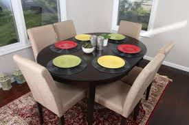 Light Wood Dining Table Chairs Buy Light Canvas Brown Linen 7pc Oval Solid Top Dining Table