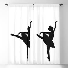 ballerina silhouette black blackout curtain