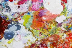 abstract color palette acrylic oil paint color texture spots of oil paint modern art