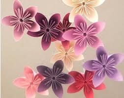 Paper Flower Mobiles Paper Flower Mobile Etsy