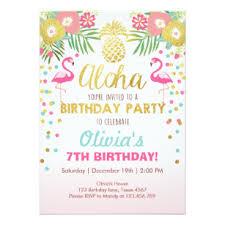Tropical Party Invitations Luau Party Invitations Zazzle