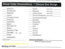 Cake Order Form Template Bakery – Onbo Tenan