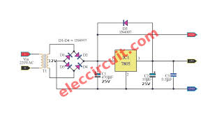 5v and 12v power supply eleccircuit electronic circuit 12V Solar Panel Wiring Diagram convert ac to dc voltage two level, 5v 12v