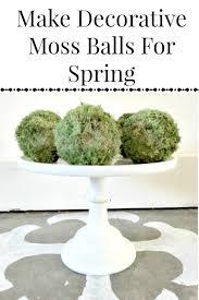 Decorative Moss Balls Make Decorative Moss Balls For Spring Twelve On Main 91