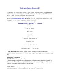 Undergraduate Student Cv Httpjobresumesample Com1058 Sample Resume