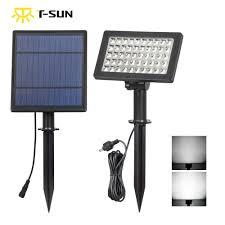 T Sunrise 5 W 50 Leds Solar Lamp Zonne Energie Verlichting Led Tuin Licht Solar Spotlight Waterdichte Voor Boom Patio Yard