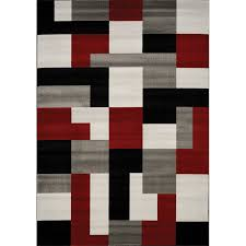 8 x 11 large red black and gray area rug platinum