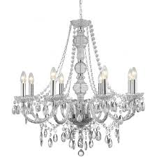8888 8cl marie therese 8 light chandelier polished chrome