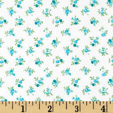 108  Quilt Backing Rosebuds Teal | Teal blue, Teal and Fabrics & 108